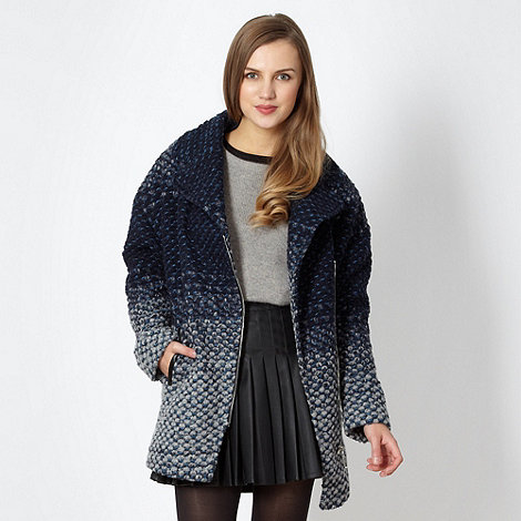 Butterfly by Matthew Williamson - Designer blue knitted textured coat