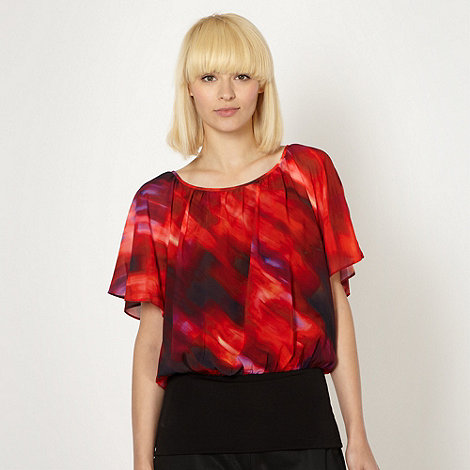 Butterfly by Matthew Williamson - Designer red blur batwing top
