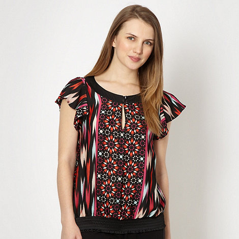 Butterfly by Matthew Williamson - Designer black tile printed top