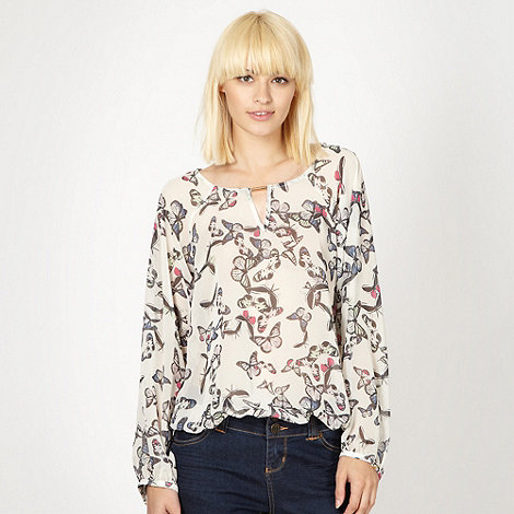 Butterfly by Matthew Williamson - Designer cream butterfly top