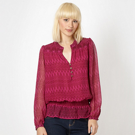 Butterfly by Matthew Williamson - Designer pink zig zag blouse