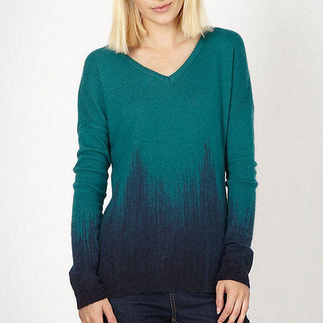 Butterfly by Matthew Williamson - Designer green ombre knitted jumper
