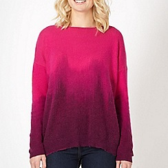 Butterfly by Matthew Williamson - Designer pink dip dye knitted jumper