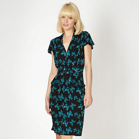 Butterfly by Matthew Williamson - Designer black butterfly printed jersey dress
