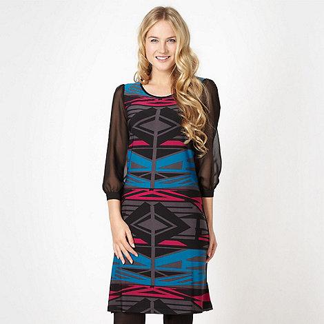 Butterfly by Matthew Williamson - Designer black aztec print dress