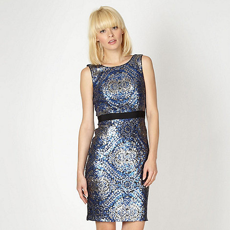 Butterfly by Matthew Williamson - Designer metallic all over sequin dress