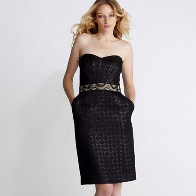 Butterfly by Matthew Williamson Black jacquard bandeau dress - . -