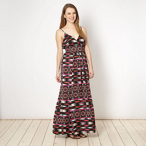Butterfly by Matthew Williamson - Designer red star tile maxi dress
