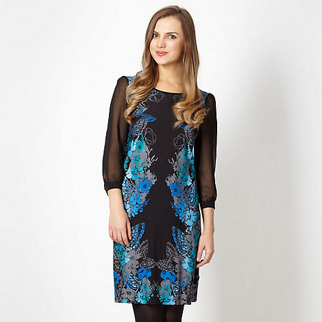 Butterfly by Matthew Williamson - Designer black mirror butterfly dress