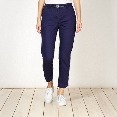 Butterfly by Matthew Williamson - Designer navy belted chinos