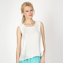 Butterfly by Matthew Williamson - Designer white layered zip back top