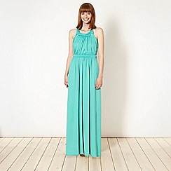 Butterfly by Matthew Williamson - Aqua jersey twist top maxi dress