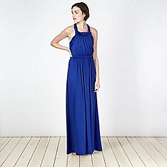 Butterfly by Matthew Williamson - Navy jersey twist top maxi dress