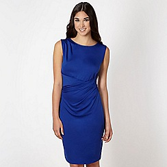 Butterfly by Matthew Williamson - Designer royal blue drape front jersey dress