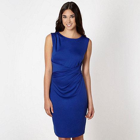 Butterfly by Matthew Williamson - Designer royal blue drape front jersey dress