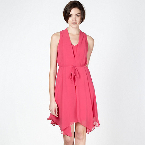 Butterfly by Matthew Williamson - Designer pink sleeveless chiffon dress