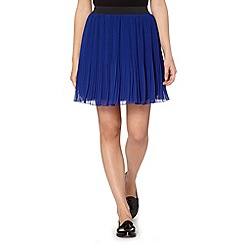 Butterfly by Matthew Williamson - Designer royal blue pleated skirt