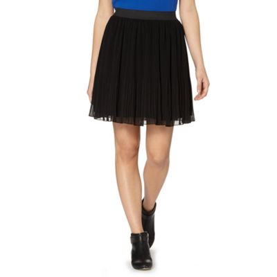 Butterfly by Matthew Williamson Designer black pleated skirt - . -