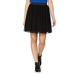 Butterfly by Matthew Williamson - Designer black pleated skirt