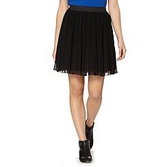 Butterfly by Matthew Williamson - Designer black pleated skirt
