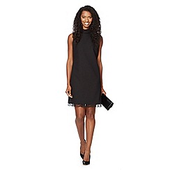 Butterfly by Matthew Williamson - Designer black lace edge crepe dress
