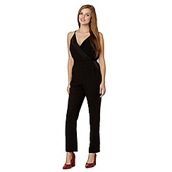 Butterfly by Matthew Williamson - Designer black pleated crepe jumpsuit