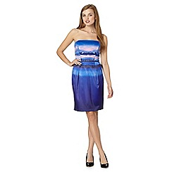 Butterfly by Matthew Williamson - Designer royal blue landscape bandeau dress