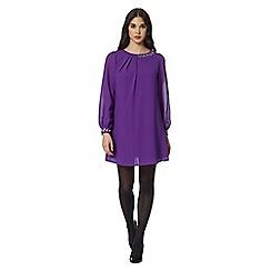 Butterfly by Matthew Williamson - Designer purple embellished shift dress