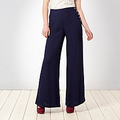Butterfly by Matthew Williamson - Navy crepe palazzo trousers