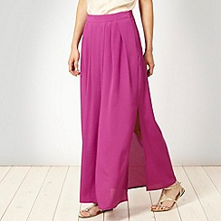 Butterfly by Matthew Williamson - Purple pleat front maxi skirt