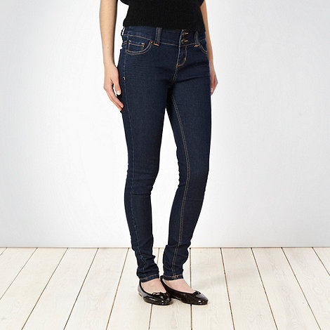 Butterfly by Matthew Williamson - Blue creased skinny fit jeans