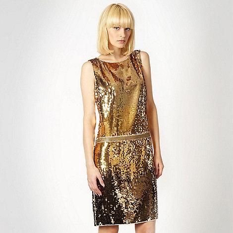 Butterfly by Matthew Williamson - Gold graduating sequin dress