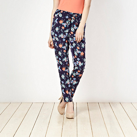 Butterfly by Matthew Williamson - Blue butterfly print trousers