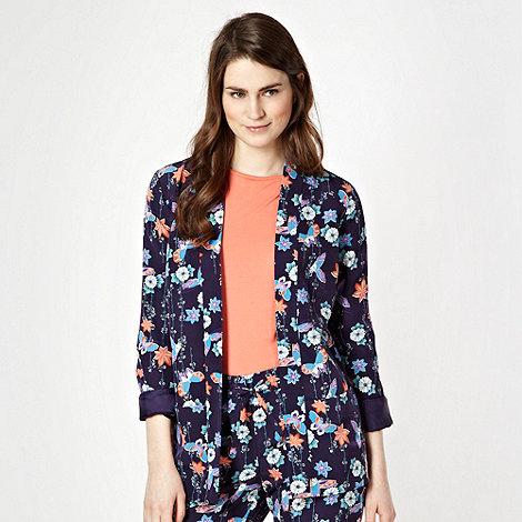 Butterfly by Matthew Williamson - Designer navy floral jacket
