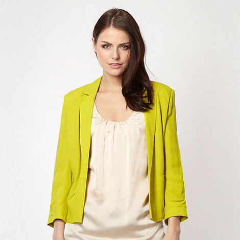 Butterfly by Matthew Williamson - Designer lime draped jacket