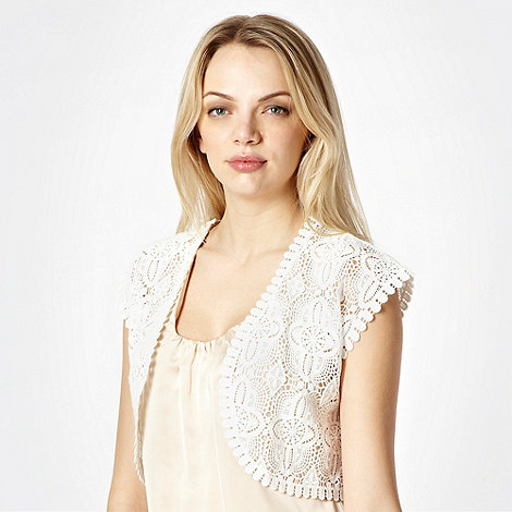 Butterfly by Matthew Williamson - Cream scalloped crochet cover up