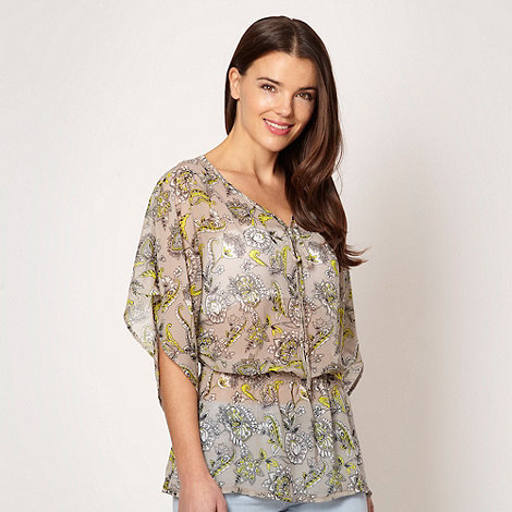 Butterfly by Matthew Williamson - Designer grey paisley kaftan