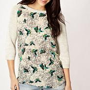 Cream butterfly front jumper