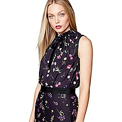 Studio by Preen - Black floral print shell top