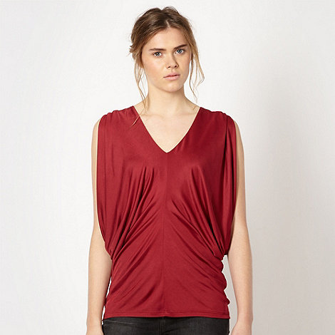 Todd Lynn/EDITION - Designer cherry red drape jersey top