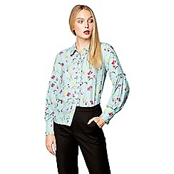Studio by Preen - Pale green floral print blouse