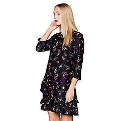 Studio by Preen - Black floral print knee length tunic dress
