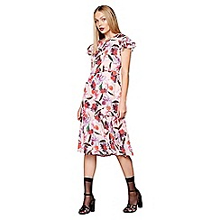 Studio by Preen - Pink floral midi tea dress