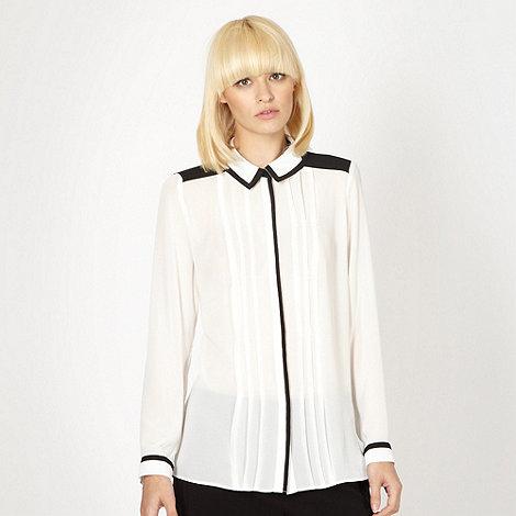 Jonathan Saunders/EDITION - Designer ivory sheer pintuck blouse