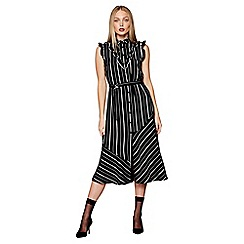 Studio by Preen - Black striped high neck midi dress