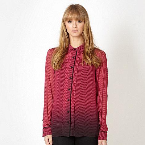 Jonathan Saunders/EDITION - Designer dark pink herringbone shirt