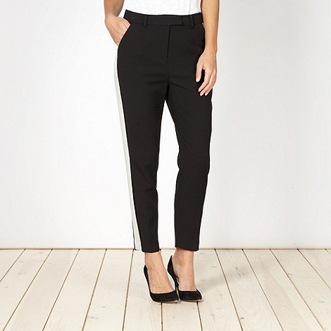 Preen/EDITION - Designer black stripe side trousers