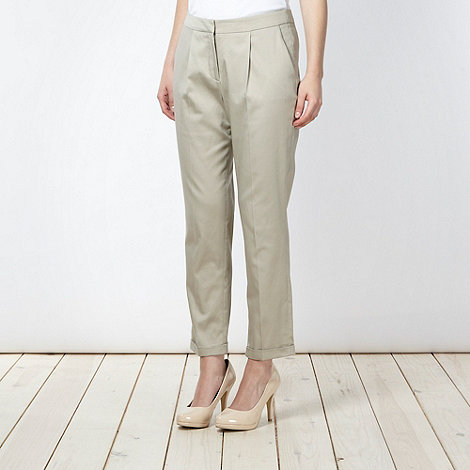 preen-edition - Designer taupe sateen chinos
