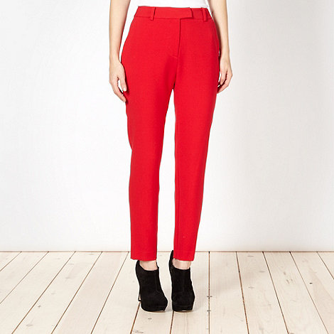 Preen/EDITION - Designer red crepe trousers