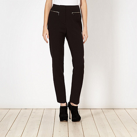 Preen/EDITION - Designer black zip trousers